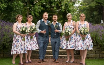 Two Grooms, Two Dogs And One Grand Celebration At Matfen Hall