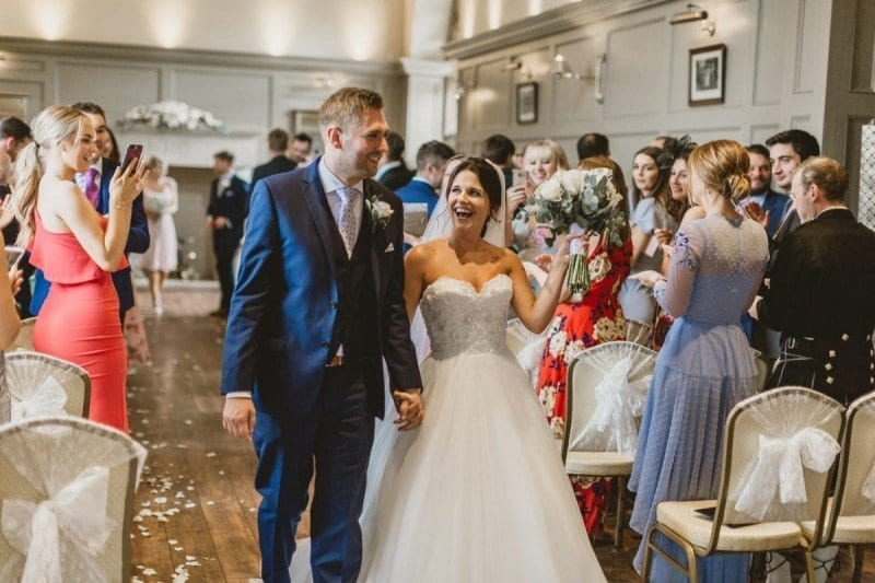 Ellingham Hall: Vicki and Jonny's subtle beach style wedding